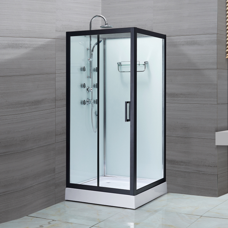 Black Aluminum Alloy Shower Enclosure-LX-1003