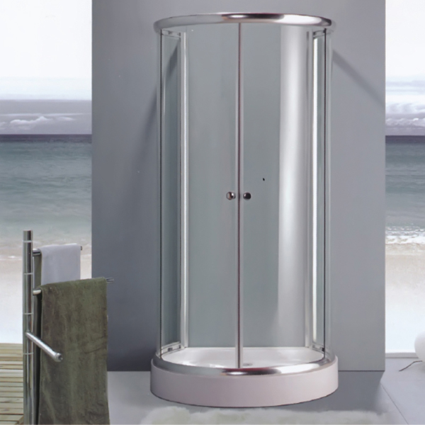 Half Round Shaped Clear Tempered Glass Shower Enclosure-LX-1005