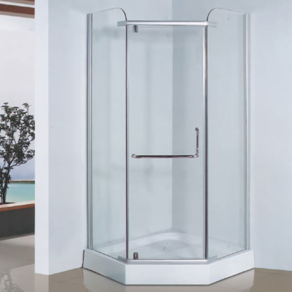 Diamond Shaped Clear Tempered Glass Shower Enclosure-LX-1014