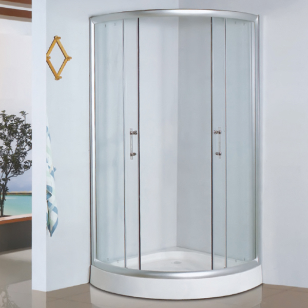 Sector Shaped Polished Framed Shower Enclosure-LX-1020