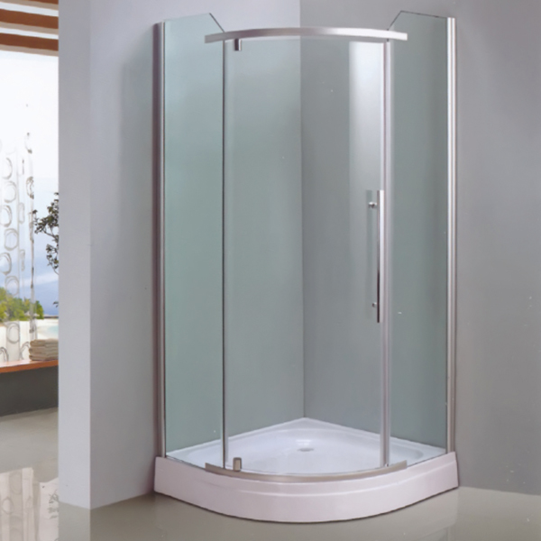 Sector Shaped Polished Aluminum Alloy Shower Enclosure-LX-1022