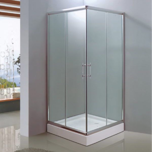 Square Shaped Polished Framed Shower Enclosure-LX-1026