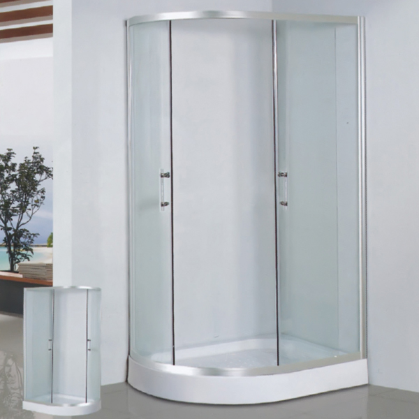Sector Shaped Aluminum Alloy Framed Shower Enclosure-LX-1032