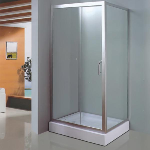 Rectangle Shaped Polished Aluminum Alloy Shower Enclosure-LX-1034