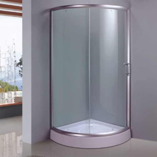Sector Shaped Shower Enclosure With ABS Tray-LX-1039