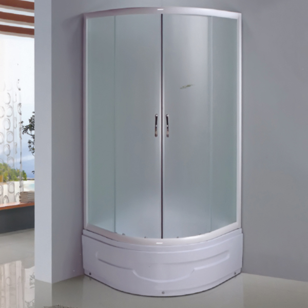 Sector Shaped Shower Enclosure With Hige ABS Tray-LX-1043