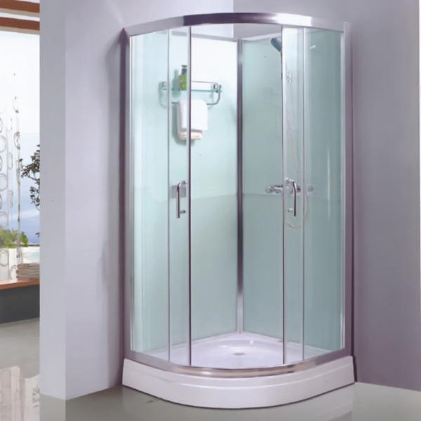 Sector Shaped Aluminum Alloy Framed Shower Enclosure-LX-1062