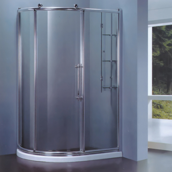 Trensparent Tempered Glass Shower Enclosure-LX-1105