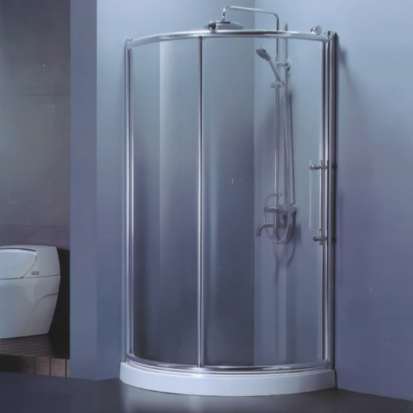 Sector Shaped Shower Enclosure With Shower Set-LX-1106