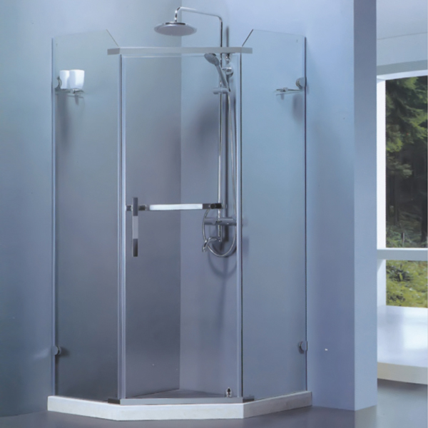 Diamond Shaped Shower Enclosure With Shower Set-LX-1107