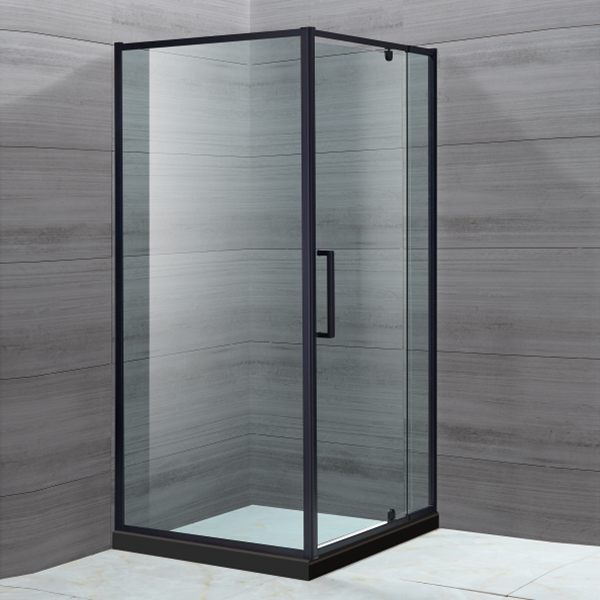 Black Framed Hinge Shower Enclosure-LX-1117