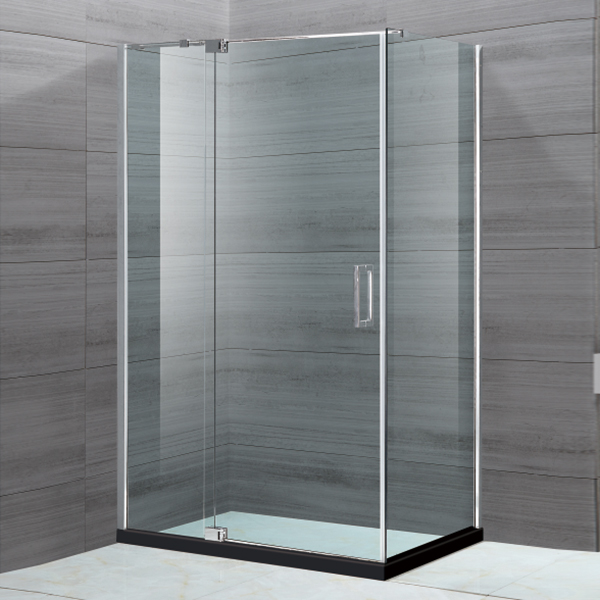 Light Silver Framed Hinge Shower Enclosure-LX-1119