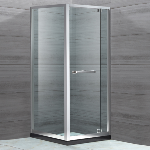 Light Silver Stainless Steel Framed Shower Cubicles-LX-1126