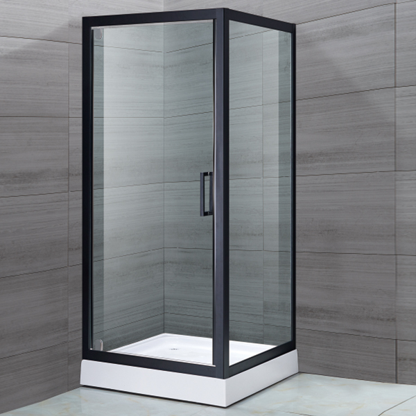 Black Stainless Steel Framed Shower Cubicles-LX-1128