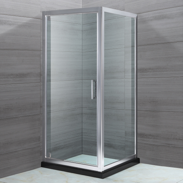 Stainless Steel Framed  Hinge Shower Cubicles-LX-1130