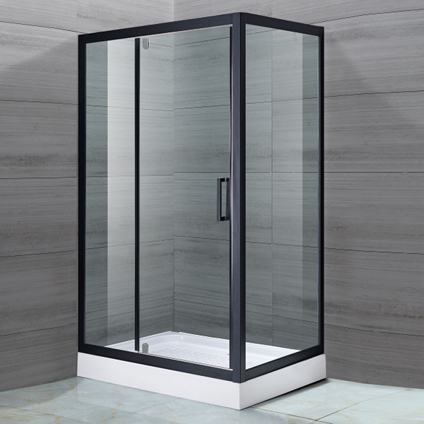 Black Hinge Shower Cubicles-LX-1132