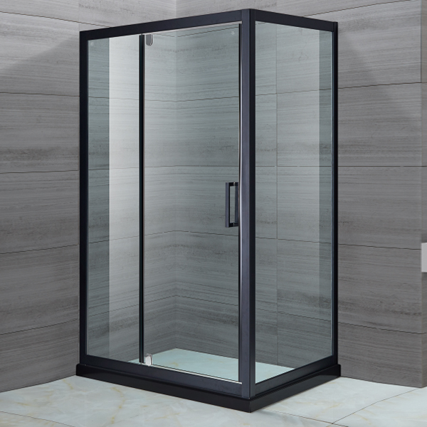 Rectangle Shaped Black Shower Cubicles-LX-1137
