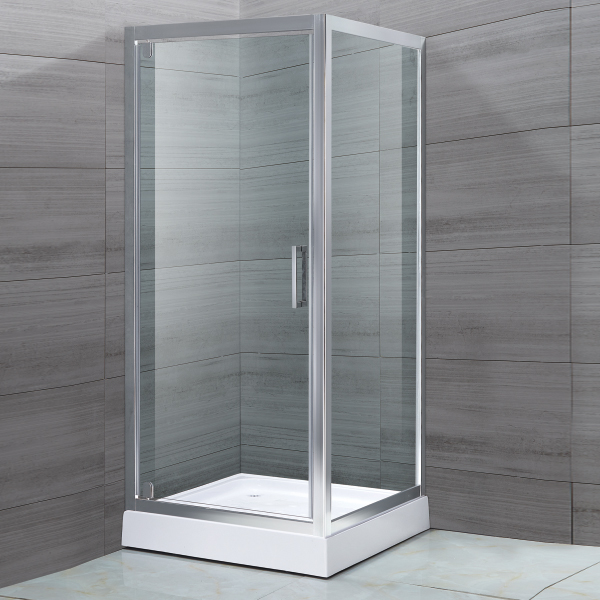 Square Shaped Light Silver Shower Cubicles-LX-1151
