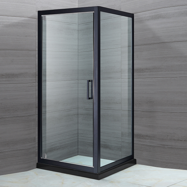 Square Shaped Black Shower Cubicles-LX-1153