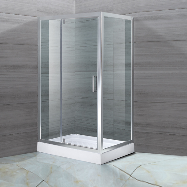 Rectangle Shaped Light Silver Shower Cubicles-LX-1156