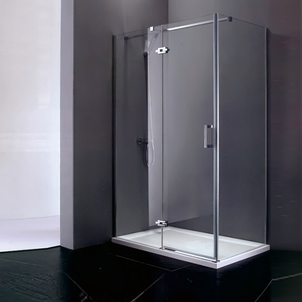 Frameless Shower Cubicles With Shower Tray-LX-1166