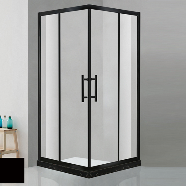 Black Aluminum Alloy Framed Shower Enclosure-LX-1170