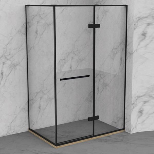 Black Rectangle Shaped Shower Enclosure-LX-1172