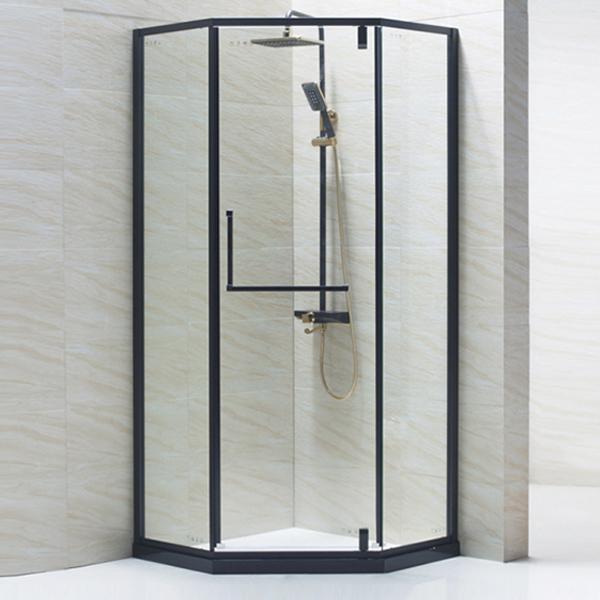 Black Diamond Shaped Shower Enclosure-LX-1175
