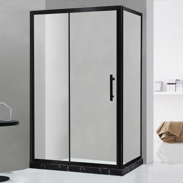 Black Shower Cubicles With Artifical Stone-LX-1177