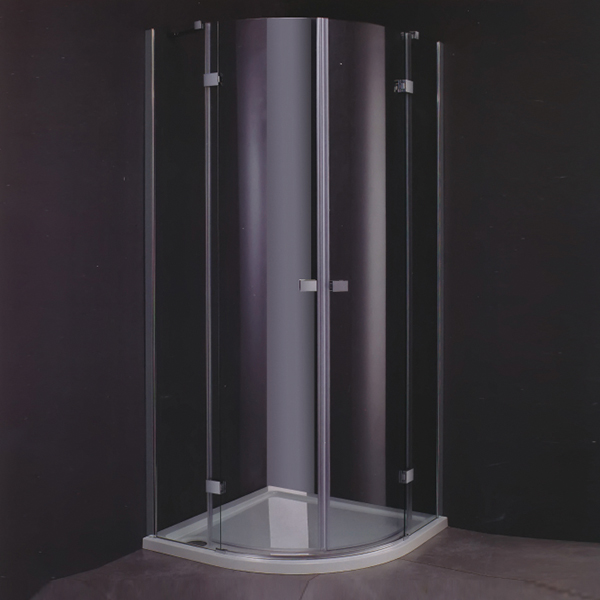 Sector Shaped Frameless Hinge Shower Cubicles-LX-1186