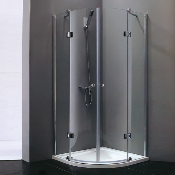 Round Handle Sector Shaped Shower Cubicles-LX-1195