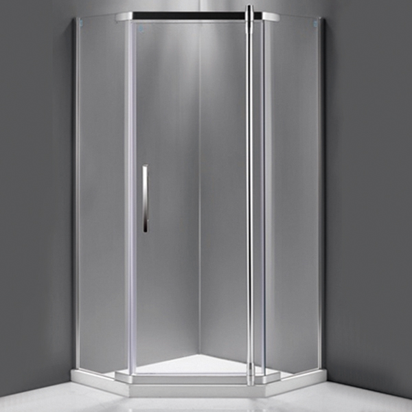 Diamond Shaped Frosted Shower Cubicles-LX-1197