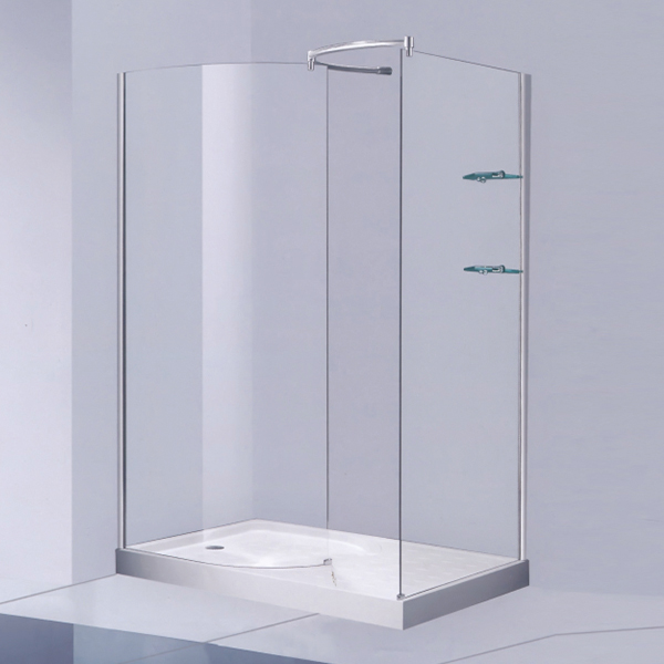 Frameless Shower Cubicles With Towel Rack-LX-1199