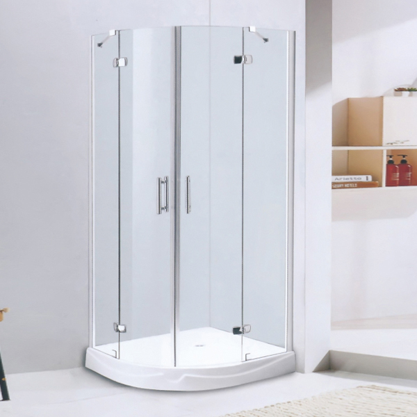 Sector Shaped Frameless Hinge Shower Cubicles-LX-1206
