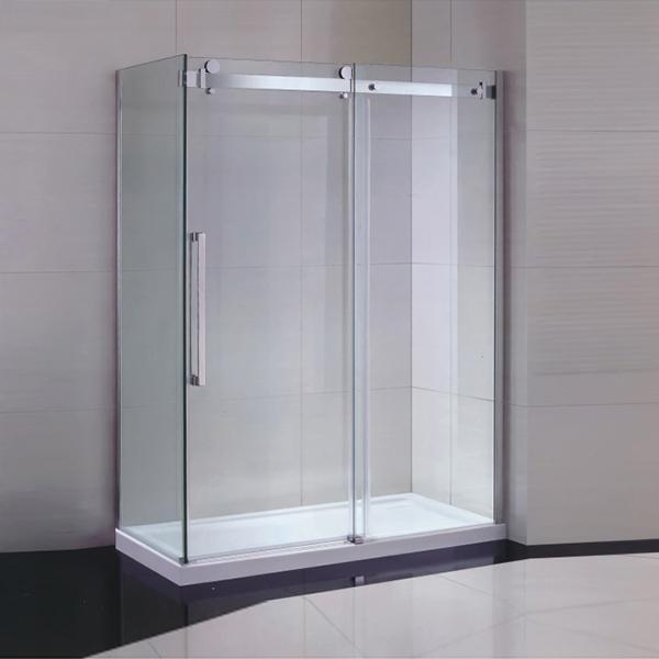 Stainless Steel Vertical Handle Sliding Shower Enclosure-LX-1210