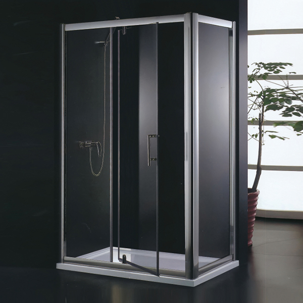 Polished Aluminum Alloy Folding Shower Enclosure-LX-1212