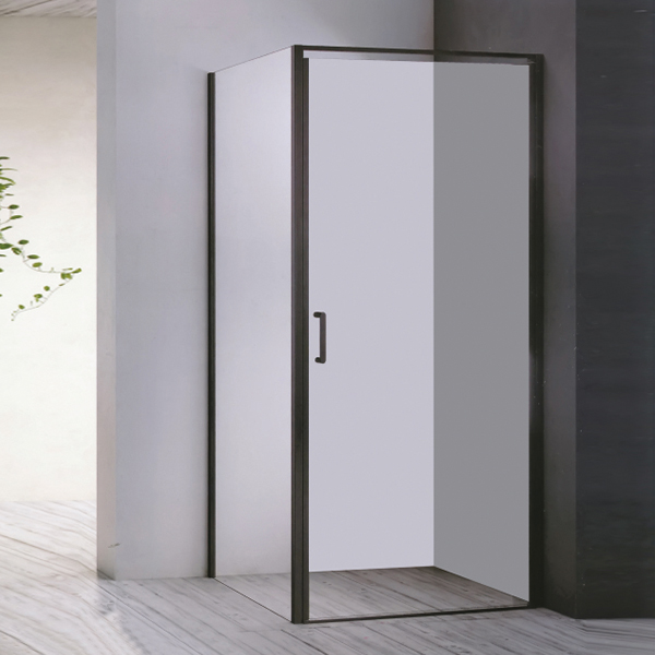 Black Framed Shower Enclosure Without Shower Tray-LX-1215