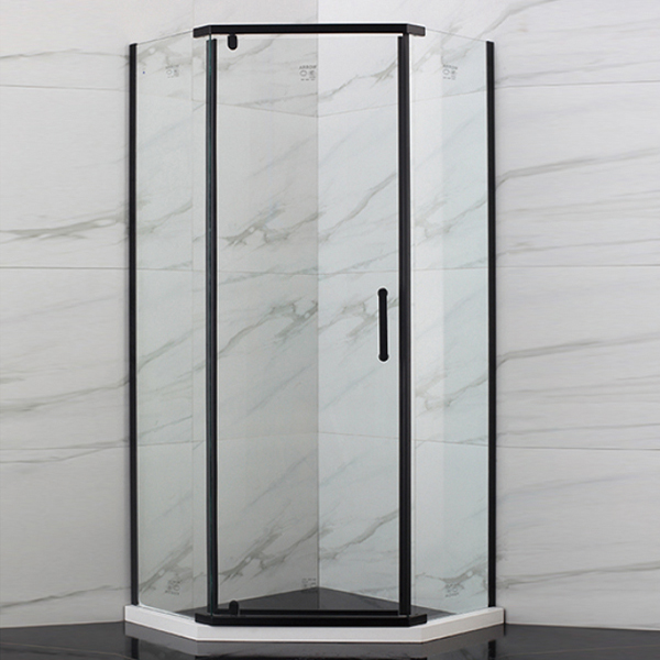 Diamond Shaped Black Framed Shower Enclosure-LX-1221