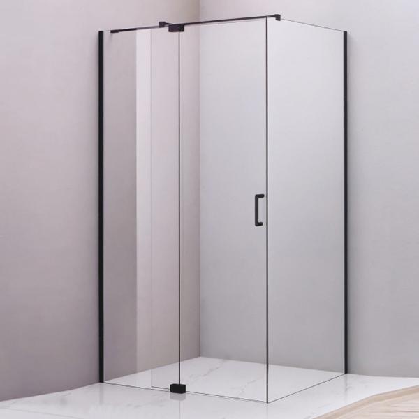 Black Corner Rectangle Shaped Shower Enclosure-LX-1228