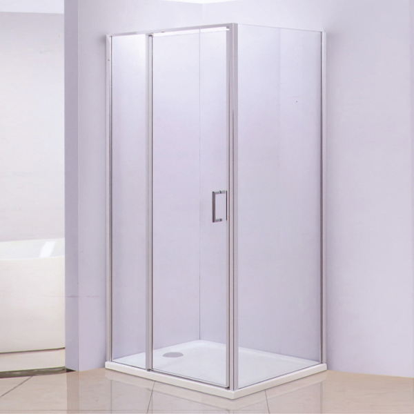Stainless Steel Shower Enclosure With ABS Tray-LX-1235