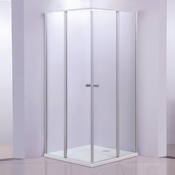 Corner Shower Cubicles With ABS Shower Tray-LX-1253