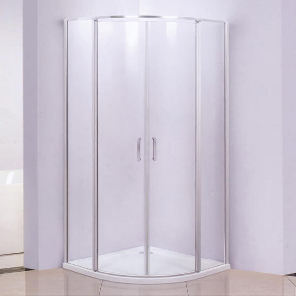 Corner Sector Shaped Hinge Shower Cubicles-LX-1256