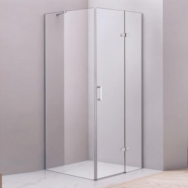 Corner Hinge Clear Glass Shower Cubicles-LX-1265