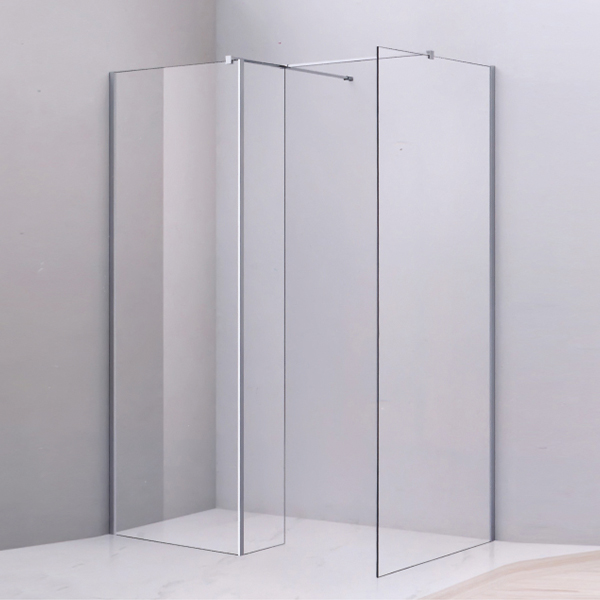 Corner Frameless Walk in Shower Cubicles-LX-1269