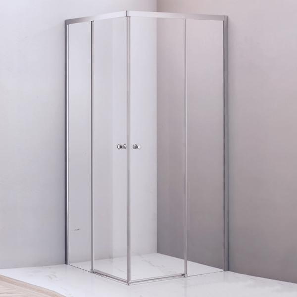Corner Clear Tempered Glass Shower Enclosure-LX-1276