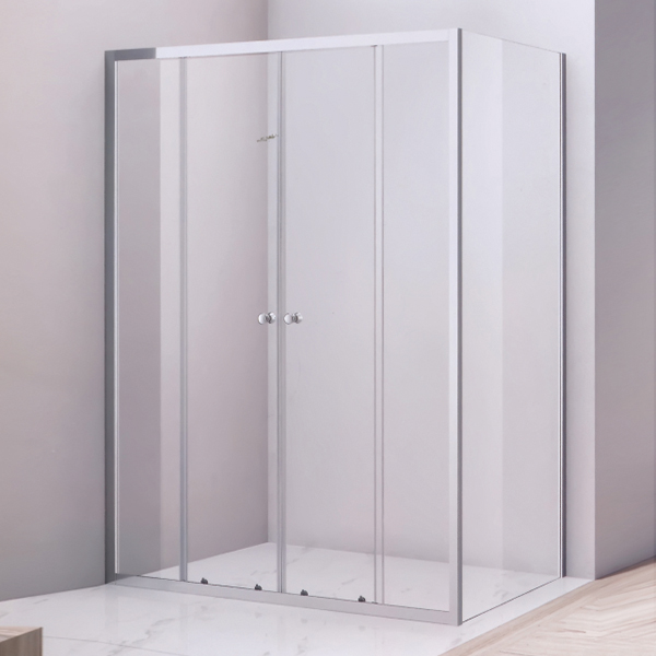 Rectangle Shaped Light Silver Framed Shower Room-LX-1285