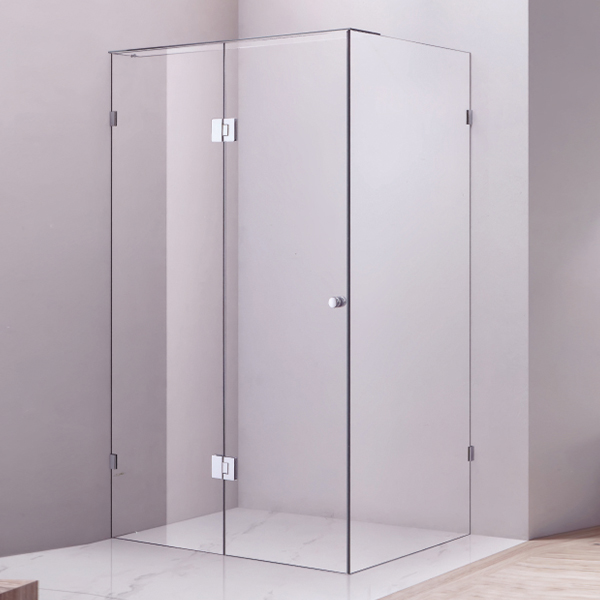 Frameless Clear Tempered Glass Shower Cubicles-LX-1296