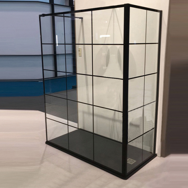 Black Tray And Frame Shower Enclosure-LX-1311