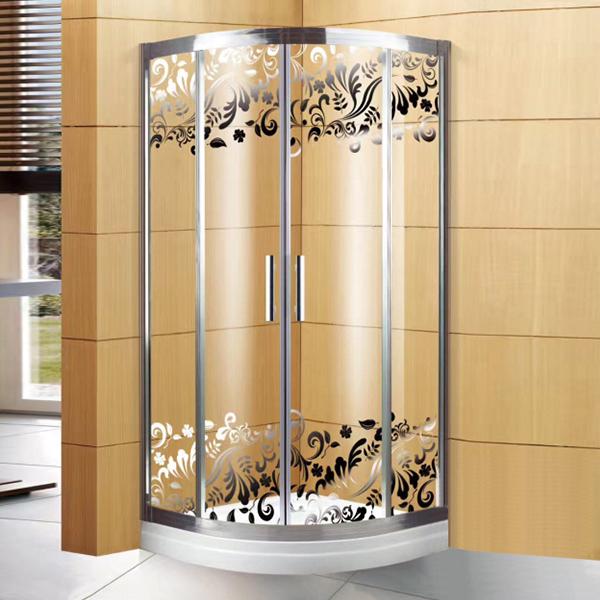 6 mm Pattern Glass Shower Enclosure-LX-1316