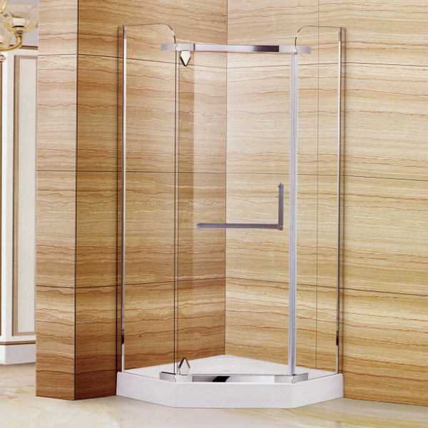 Diamond Shaped Clear Tempered Glass Shower Enclosure-LX-1322
